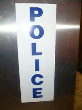 Police Call Box Decal Blue Letters