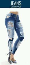 Women Revel pantalon levanta cola butt lift  jeans push up colombiano size3usa