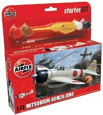 AIRFIX WWII 1/72 A6M2b Zero Fighter Model Kit w/ Paint Glue Brush NEW 55102
