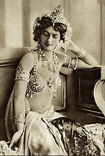 MATA-HARI VINTAGE FRENCH NUDE EXOTIC BELLY DANCER EROTIC WOMAN WWI SPY PHOTO