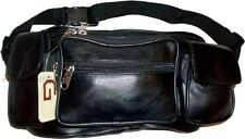 Jombo Leather waist pouch. waist bag, leather bag, Fanny pack large pack New WT