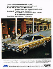 Vintage 1967 Magazine Ad Ford Facts Quiet Better Ideas & My Wife Likes The Looks