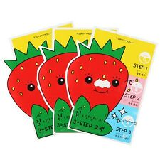 [TONYMOLY]  Mr.strawberry 3-STEP Nose pack 6g 3pcs / Korean cosmetics