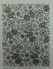 Unmounted rubber stamp Flowers and Leaves Background