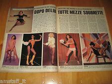 OGGI 1977/7=SOUBRETTE TV RAI=PAOLO VILLAGGIO FANTOZZI=CLIPPING RITAGLIO FOTO=