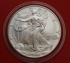 1998 American 1oz Silver Eagle $1 One Dollar Coin In Capsule