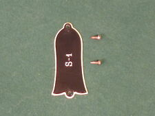 Vintage Gibson S1 Truss Rod Cover & Screws S-1