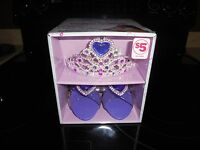 NEW IN BOX FANTASY GIRLS DRESS UP SET!! CONTAINS 1 TIARA 1 PAIR OF SHOES AGES 3+