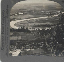 STEREOVIEW OF THE BEAUTIFUL KASHMIR VALLEY AND JHELUM, INDIA