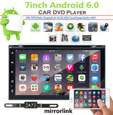 "Android 6.0 7"" Double 2Din 3G Wifi Car GPS Nav DVD Player BT Indash Radio stereo"