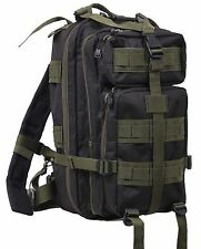 "Olive Drab & Black Medium Transport Pack - Rothco 17"" MOLLE Tactical Backpack"