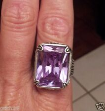 SILPADA STERLING SILVER & LAVENDER CUBIC ZIRCONIA RING SIZE 5 R2001