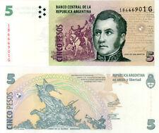 ARGENTINA 5 PESOS 2012 UNCIRCULATED  P 353 G SERIAL - JOSE DE SAN MARTIN