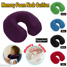 Memory Foam Neck Travel Cushion Pillow Assorted Colors