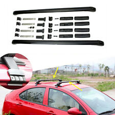 2PCS Black Aluminum Cross Bar Roof Cargo Luggage Rack For HONDA CIVIC 2005-2016
