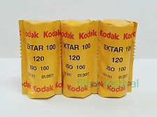 3 rolls KODAK EKTAR 100 120 Film Color Print Medium Format