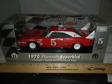 1:18 ERTL  1970 PLYMOUTH SUPERBIRD #5 BOBBY UNSER WINGED WARRIORS RED & WHITE #5