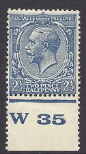 1924 2½d Blue Block Cypher Control W35 perf Lightly MOUNTED MINT