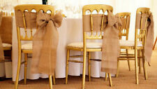 10 x BURLAP CHAIR SASH! QUALITY BURLAP JUTE HESSIAN VINTAGE WEDDING SASHES BULK