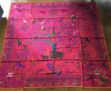 NEW WITHOUT TAGS PINK HERMES LARGE CASHMERE/SILK PEUPLE DU VENT SHAWL SCARF