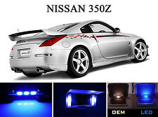 Ultra Blue Vanity / Sun visor  LED light Bulbs for Nissan 350Z (4 Pcs)
