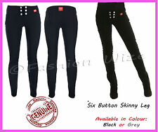 Girls Black Grey School Trousers Sizes 4-16 Miss Sexies Super Skinny Sizes 4-16