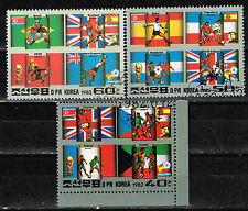 Korea Sport Soccer Football World Cup Espana 82 Countries Flags stamps set