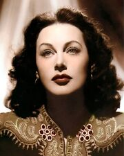 "HEDY LAMARR THE HEAVENLY BODY 1944 ACTRESS 8x10"" HAND COLOR TINTED PHOTOGRAPH"
