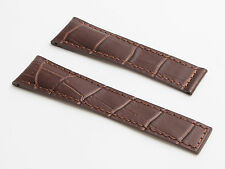 Brown crocodile-style strap to fit TAG Heuer Grand Carrera - 22/18 mm