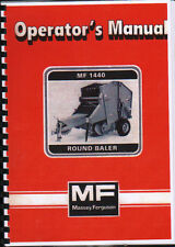 "Massey Ferguson ""1440"" Round Baler Operator Instruction Manual Book"