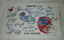 Buffalo Bills signed auto football picture print litho photo 1/2 14/300 JSA coa