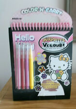 HELLO KITTY COLOR-N-CARRY EASEL ACTIVITY BOOK W/ MARKERS NEW FREE PRIORITY