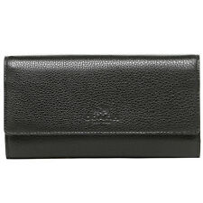 New Authentic Coach Trifold Wallet in Pebble Leather Gold/Black F53708 IMBLK