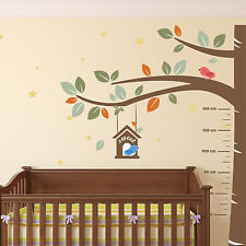 Measurement Baby Wall Stickers Decal Nursery Sweet Birds Kids 270cm x 220cm