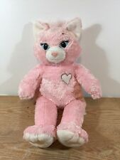 "Build a Bear Pink Sassy Cat  20"" Plush"