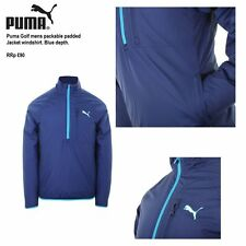 Puma Mens Padded Packable Jacket Size Large BNWT RRP £90 Blue Depths Uk Freepost