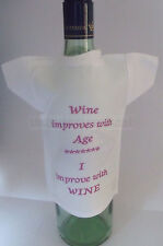 Bottle T-Shirt funny slogan - ideal birthday gift mature wine lover