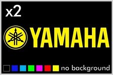 (2) Yamaha Sticker Decal Motorcycle Boat Window Tank Wheel Bike yz yzf fzr r1 r6