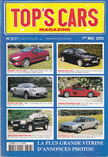 TOP'S CARS N° 317 - REVUE MAG - ANNEE 2002 - ANNONCES & PHOTOS - TBE