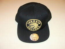 Toronto Raptors NBA Cap Hat Snapback Basketball Mitchell Ness Logo Gold Wordmark