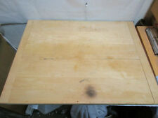 "vintage Wood Dough Bread Cutting Board w Sides 24""x18"".75"" - Estate Listing NR"