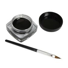 1x Eyeliner Gel Cream With Brush Makeup Black Waterproof Eye Liner