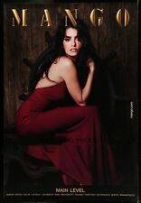 "HUGE Original RARE PENELOPE CRUZ MANGO CLOTHING Bus Shelter Poster 47""X70"""