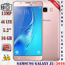 Samsung Galaxy J5 (2016) 4G LTE J510F 16GB Android Unlocked Phone 13MP Rose Gold