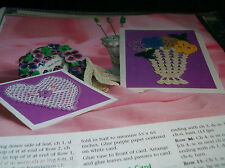 Crochet Pattern ~ PANSIES IN VASE & HEART     ~ INSTRUCTIONS ONLY