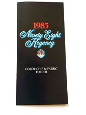 1985 Oldsmobile Ninety Eight 98 Color Paint and Vinyl Fabric Car Guide Brochure