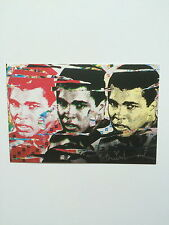 MR BRAINWASH. MUHAMMAD ALI TRIPTYCH, promotional card, 2010