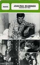 Fiche Monsieur cinéma. Jean-Paul Belmondo. France Période 1957-1963
