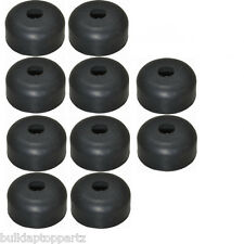 "Lot of 10 Recessed Rubber Feet Bumpers 1"" w  X 1/2"" h + metal washers built-in"
