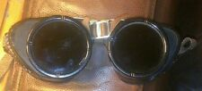 ANTIQUE STEAMPUNK WELDING GOGGLES EX.COND. GREEN LENS